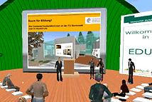 Bildschirmfoto Second Life-Vortrag