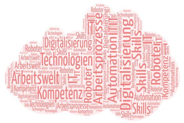 Schlagworte-Wolke aus der Diskussion um die Digitalisierung