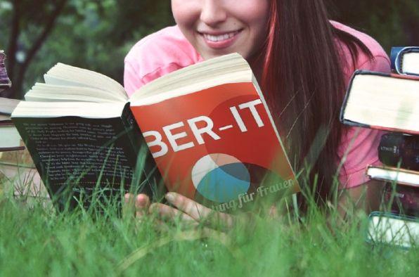 Fotomontage mit BER-IT Logo auf Buchtitel