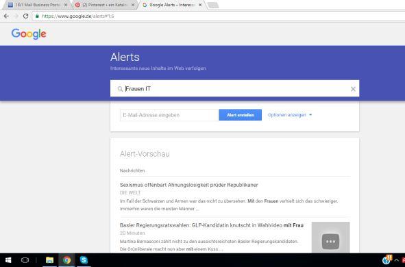 Bildschirmfoto Google Alert
