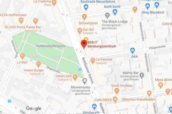 Bildschirmfoto Google Maps
