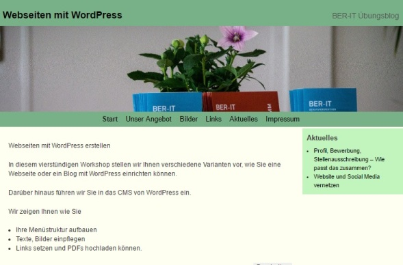 Wordpress Werkstatt